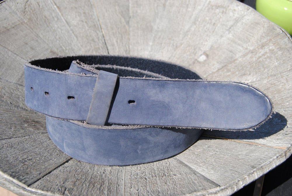 Umjubelt Gürtel Catania Farbe schwarz Ledergürtel Wechselgürtel Vollrindleder