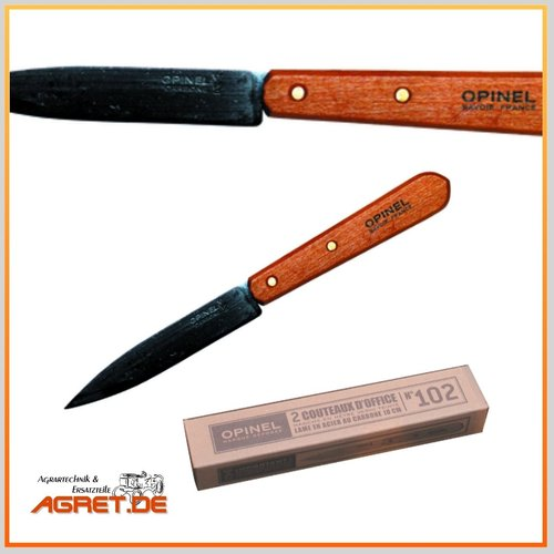 Opinel Officemesser No. 102 - Carbon - Doppelpack